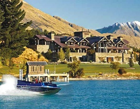 Travel to a luxury lodge at Blanket Bay with UNIQ Luxury Travel New Zealand