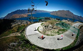 Luge ride in Queenstown with UNIQ Travel and Incentives New Zealand