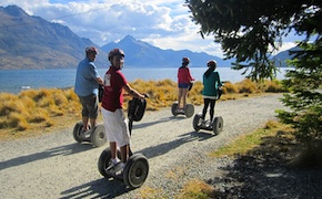Segway ride with incentive group in Queenstown