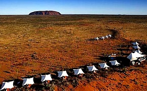In Uluru, incentive travel delegates enjoy luxury and comfort while staying at Longitude with UNIQ dmc Australia