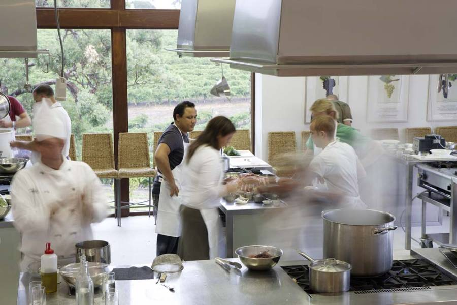 In South Australia's McLaren Vale Incentive group learns to cook in in the heart of fabulous wine region with uniq dmc australia