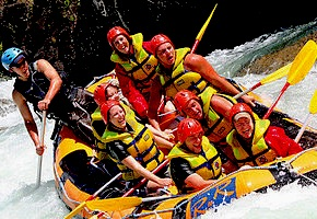 In Australia incentive travel delegates enjoy white water rafting with destination management company cairns, UNIQ Travel Australia