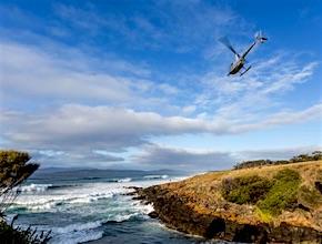 dmc-hobart-incentive-travel-tasmania-helicopter-bangor_wine_oyster-uniq-travel-australia