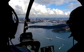 Incentive travel delegated enjoy helicopter flight and views of Sydney with UNIQ dmc Sydney Australia