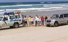 Day trip to North Stradbroke island with incentive travel participants and dmc australia