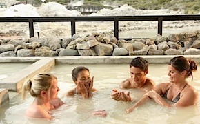 Spa indulgence in hot pools for incentive travel delegates in Rotorua, New Zealand