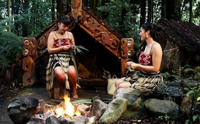 In Rotorua, New Zealand Incentive travel delegates enjoy maori experience at the Tamaki Village with Uniq travel and incentives