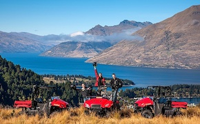 Quad ride with incentive group in Queenstown