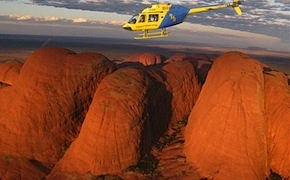 Incentive group enjoys helicopter tour over Uluru and the Olgas with dmc australia