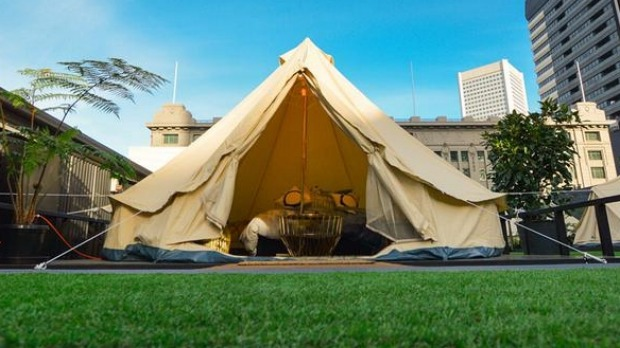 A memorable stay in the luxury tent in Melbourne. An unconventional stay in Australia for incentive travel delegates by dmc Melbourne, UNIQ Travel & Incentives
