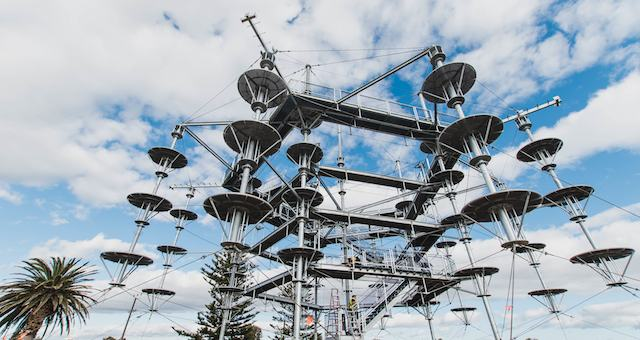 Dmc adelaide descoveres new activity for incentive travel delegates in South Australia. MegaAdventure Aerial Park is opening in Adelaide. Come and explore with UNIQ dmc South Australia